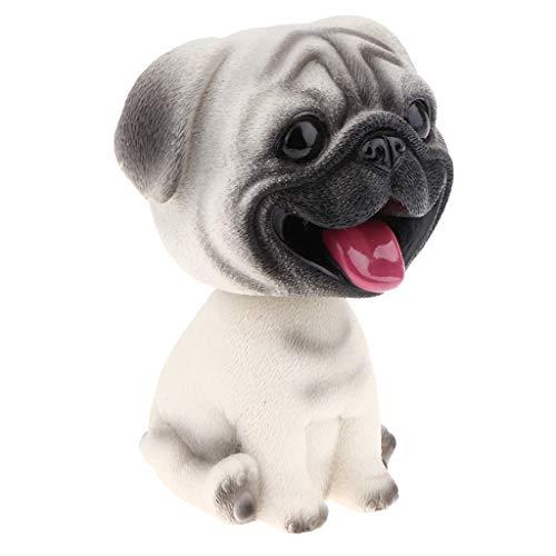 - Cute Bobble Head Dogs for Cars Dashboards Auto, Mini Animal Figures, Home Office Desktop Decoration - Pug