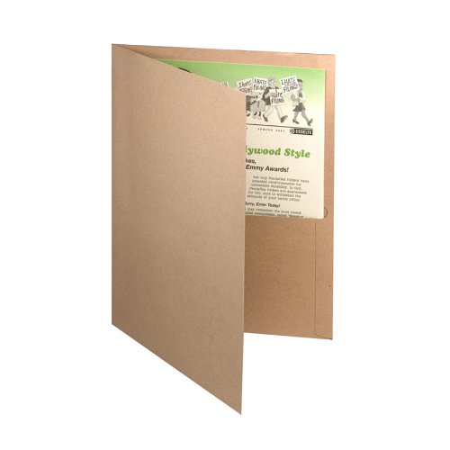Oxford 78542 Twin Pocket Portfolios, Recycled, Natural, 25/Box, Office Central