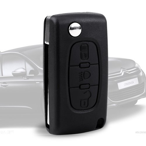 Carcasa CLE distancia para Citroen C2 C3 C5 C6 C4 Picasso plegable 3 botones: Amazon.es: Hogar