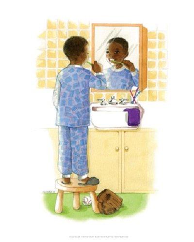 (Sunshine Smiles (Boy) Art Print by Sylvia Walker - 8 x 10in)