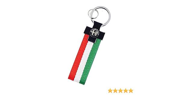 PSL Llavero de la bandera de Italia edici/ón limitada para coches Alfa Giulia Spider 4c Giulietta Stelvio Tonale de cuero de nylon