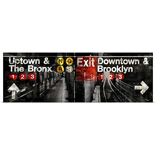 GREATBIGCANVAS Poster Print Entitled NYC Subway Station III by Luke Wilson - Nyc Subway Signs