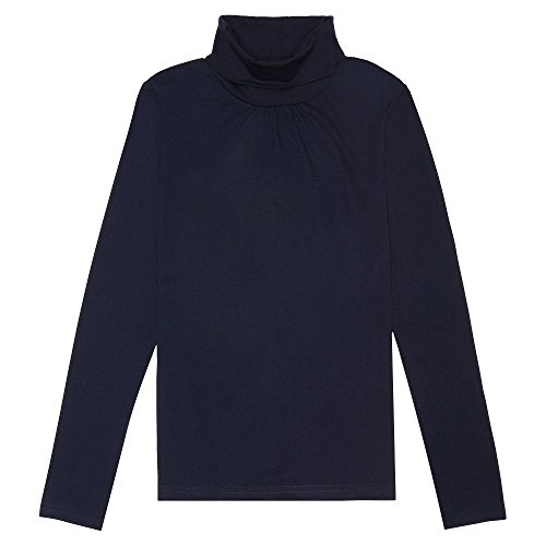 French Toast Little Girls' Long Sleeve Turtleneck, Navy, ()
