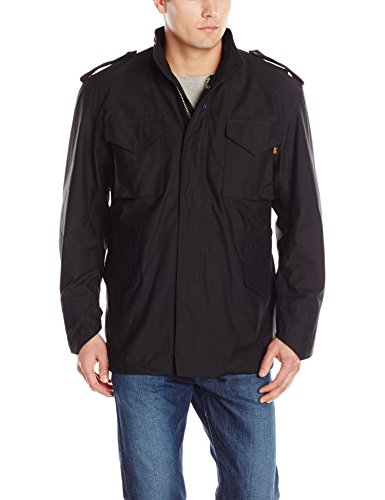 Alpha Industries Men's M-65 Field Coat,Black,Medium