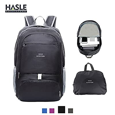HASLE OUTFITTERS 40L Packable Hiking Backpack, Lightweight Travel Backpack, Waterproof Backpacking Backpacks, Folding Hiking Daypacks.