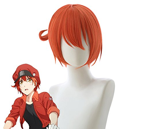 Cells at Work! Manga Red Blood Cell Cosplay Wig Cosplay Costume Hair