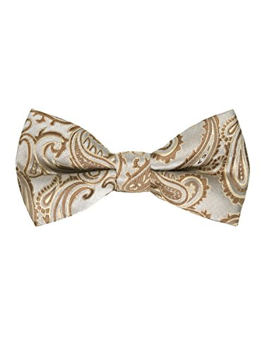 Men's Paisley Pre-Tied Bow Tie - Taupe (Taupe Bow)