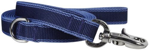 Waggo Stripe Hype Leash - Navy - Large - 6' x 1 inches