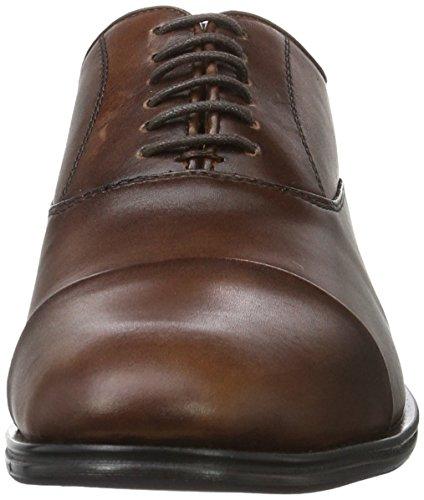 Aldo Bassham, Zapatos de Cordones Oxford para Hombre Marrón (Cognac/28)