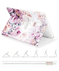 Thank you so much for choosing GVIEWIN, all we do is to make you more satisfied.GVIEWIN Compatible for iPad 9.7 Case 2017/2018, Slim Fit 3d relief painting Poetic Pattern Series Adjustable Multiple Stand Angles with Auto Sleep/Wake Function, ...