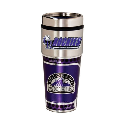 Great American Products Colorado Rockies 16oz. Stainless Steel Travel ()