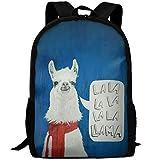 Best OXA Laptop Backpacks - LoveBea Llama Art Outdoor Casual Shoulders Multipurpose Backpack Review