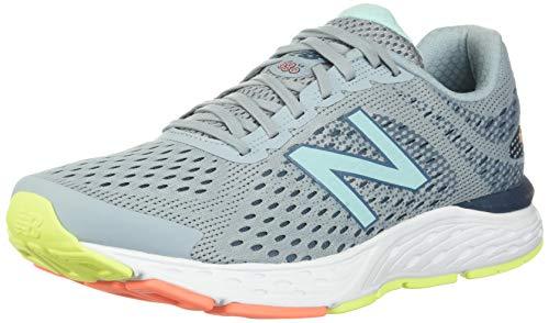 New Balance Women's 680v6 Cushioning Running Shoe, Light Slate/Stone Blue/Bali Blue, 8.5 D US