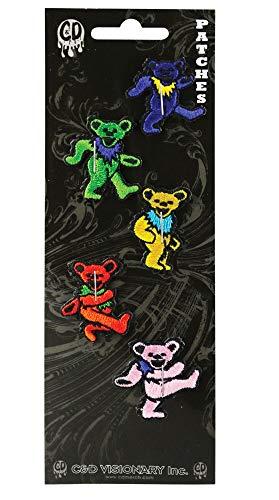 4PC Set - Grateful Dead Dancing Bear Patches - 1.25