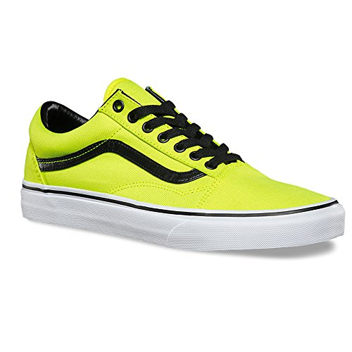 Vans Old Skool Bright Fashion Sneakers, Neon Yellow/Black, 4.5 Men/6 Women (Vans Woman Neon)