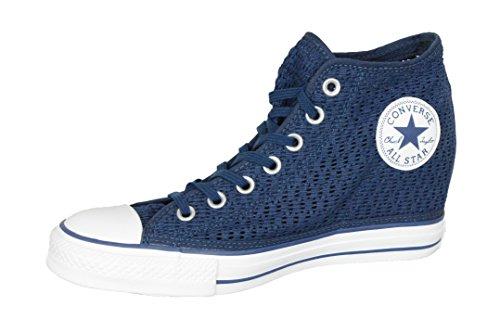 Converse Femmes Lux Mi-haut Wedge Chaussures De Skateboard Robe Bleu