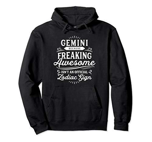 Vintage Gemini Hoodie Sweatshirt Zodiac Sign Birthday
