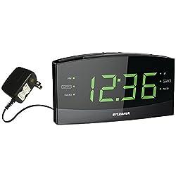 Sylvania SCR1989BT 1.8 Jumbo Digit Clock with AM/FM Radio, Bluetooth and Dual Alarm (Certified Refurbished)