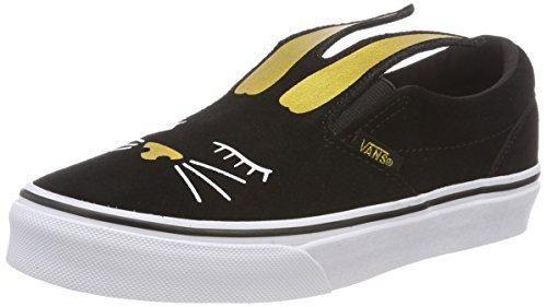 Vans Slip-On Bunny Bla Little Kids Style: VN0A3MVY-ZX1 Size: 1.5 Black/Gold -