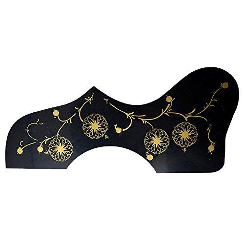 SODIAL Flower Decoration EJ200 Style Acoustic Guitar Pickguard, Black