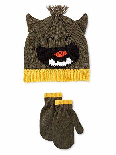 Little Monster Knit Hat - Carter's Boys Little Monster Set Beanie Hat green 2T