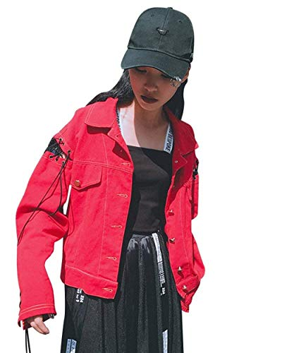 Primaverile Chic Lunghe Stampato Tendenza Cute Donna Giovane Streetwear Casual Giacca Ragazze Moda Digitale Outerwear Autunno Giubbino Maniche Lacci Rot Jacket Sciolto Stile Con Zga05qTxwa