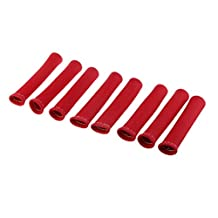 MagiDeal 8pcs Blue / Red/ Blue Engine Spark Plug Wire Boots Heat Shield Protector Sleeve Cover - Red