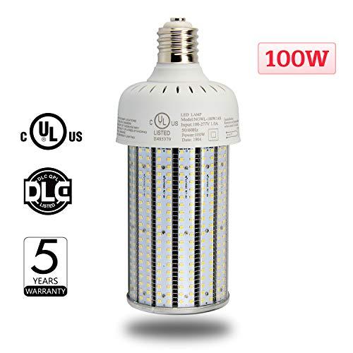 NUOGUAN 100W E39 Mogul LED Corn Cob Bulb 135Lm/W Retrofit 400 Watt Metal Halide HID Warehouse Parking Lot Light 13442 Lumens Daylight White 5000K
