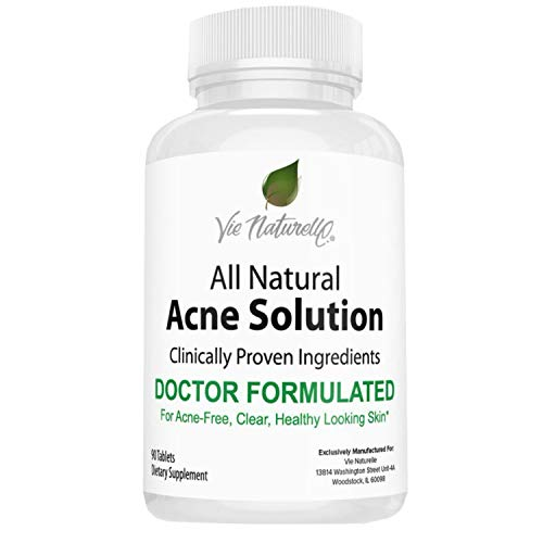 Acne Vitamins Supplements for Acne Treatment - 90 Natural Supplement Pills for Men, Women, and Teens