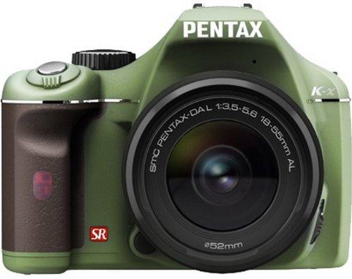 PENTAX デジタル一眼レフカメラ K-x レンズキット オリーブ/ブラウン 018  グリップ色:ブラウン B002P3K1B8