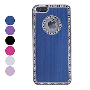 Mini - Eye-catching Diamond Frame Hard Case for iPhone 5/5S - Color , Rose