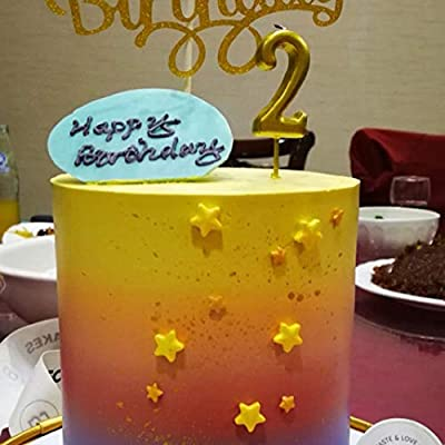 gold number 27 birthday candle