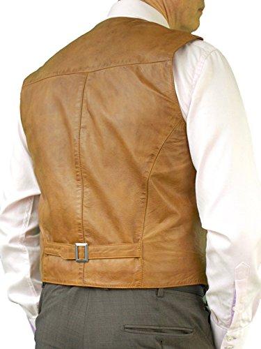 Ashwood Waistcoat With Tan Back Luxury Leather Belt Mens Buckle pwqgpUfHr