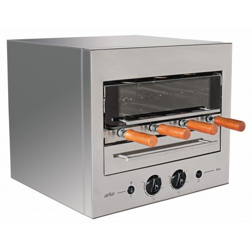 - ARKE BBQ 4 Skewer Gas Rotisserie Authentic Brazilian Barbecue at home - BBQ Roaster Oven - Perfect for Chicken, Fish, Beef, Vegetables & more!