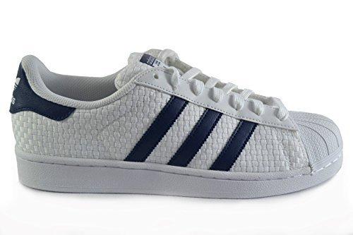 adidas Originals Superstar II Unisex-Erwachsene Sneakers Mehrfarbig Motiv-Weiß Streifen-weiß Sohle