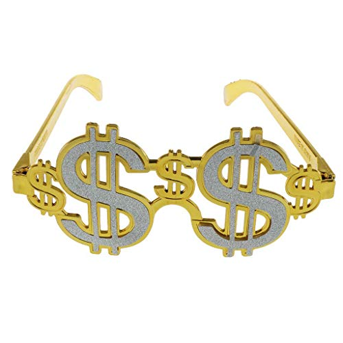Novelty Party Glasses Dollar Costume 70s 80s Rapper Big Daddy Party Eyewear Novelty Fancy Dress for Costume Cosplay Photo Props -