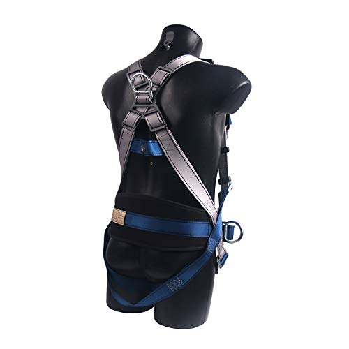 JINGYAT Full Body Safety Harness Fall Protection with 5 D-Ring,Universal Personal Protective Equipment (130-400 pound),Construction Industrial Tower Roofing Tool by JINGYAT (Image #2)