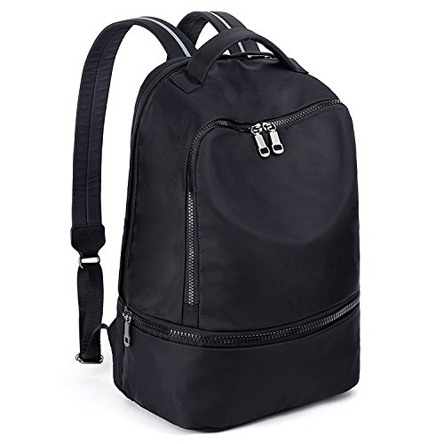 UTO Fashion Nylon Backpack Functional School Gym Sport Hiking Bag 3M Reflective Straps