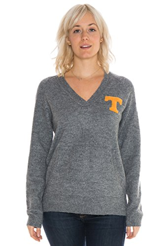 NCAA Tennessee Volunteers Women's Wool Blend Sweater, X-Large, Charcoal