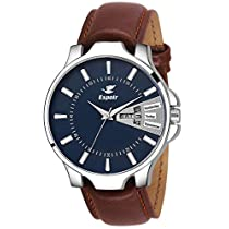 Espoir Analogue Blue Dial Day and Date Men's Boy's Watch -