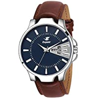 Espoir Analogue Leather Strap Day and Date Men's Boy's...
