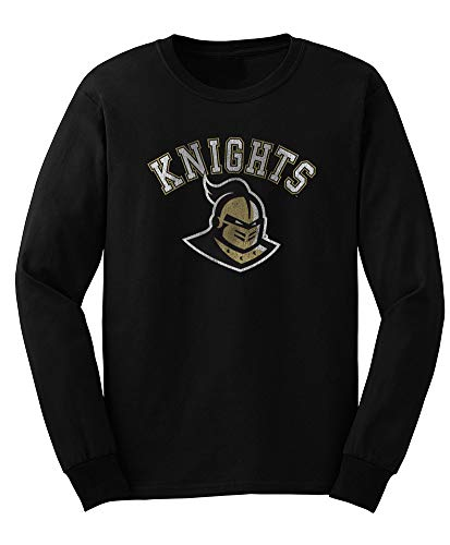 Elite Fan Shop NCAA Men's Central Florida Golden Knights Long Sleeve T Shirt Team Vintage UCF Knights Black X Large