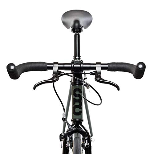 State Bicycle 4130 Steel - Double-Butted Grade Chromoly Steel Frame ft. Seat Stay Rack Mounts and Internal Cable Routing - Fixed Gear/Single Speed |Bullhorn