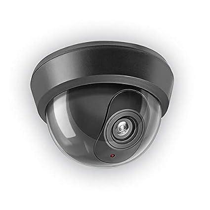 GEV 009745 Negro Almohadilla cámara de seguridad ficticia - Cámaras de seguridad ficticias (Almohadilla,