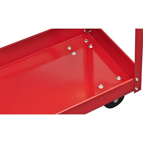 2 Tray Utility Rolling Cart Dolly 220lbs Storage Shelves Workshop Garage Tool by Mybesty (Image #3)