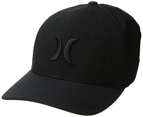 Hurley Men's Dr-Fit One & Only Flexfit Baseball Cap, Black, L-XL (Embroidered Hat Hurley)