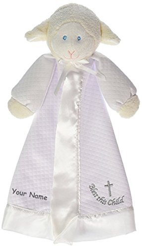- Mary Meyer Personalized Lamb Christening Blanket Snuggle Blanky - 14 Inches