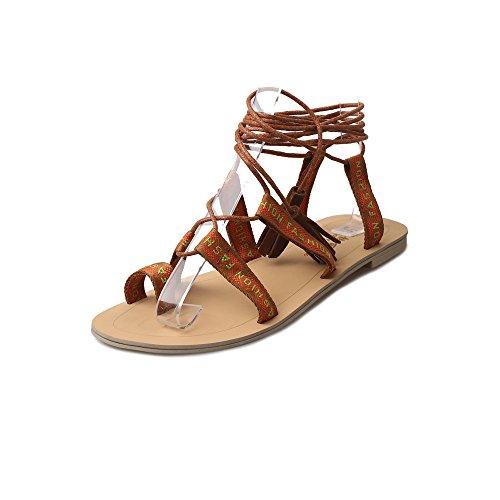 Sandalias de Mujer SMARTLADY Moda Bohemia Zapatos de playa Marrón