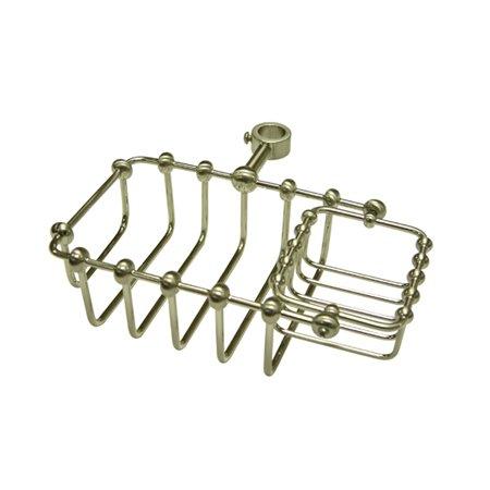 Kingston Brass Soap Basket in Satin Nickel Finish (Riser Soap Mount Dish)