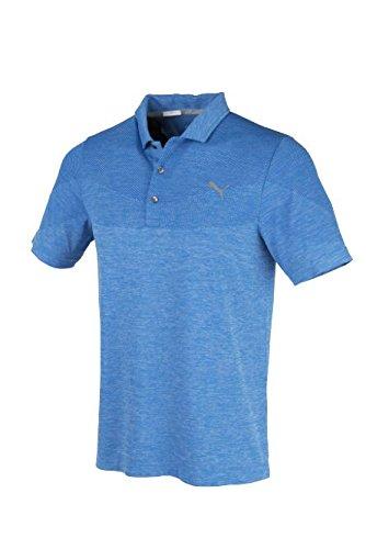 8e8748140cd Puma Golf 2017 Men's Evoknit Seamless Polo, Electric Blue Lemonade, Small